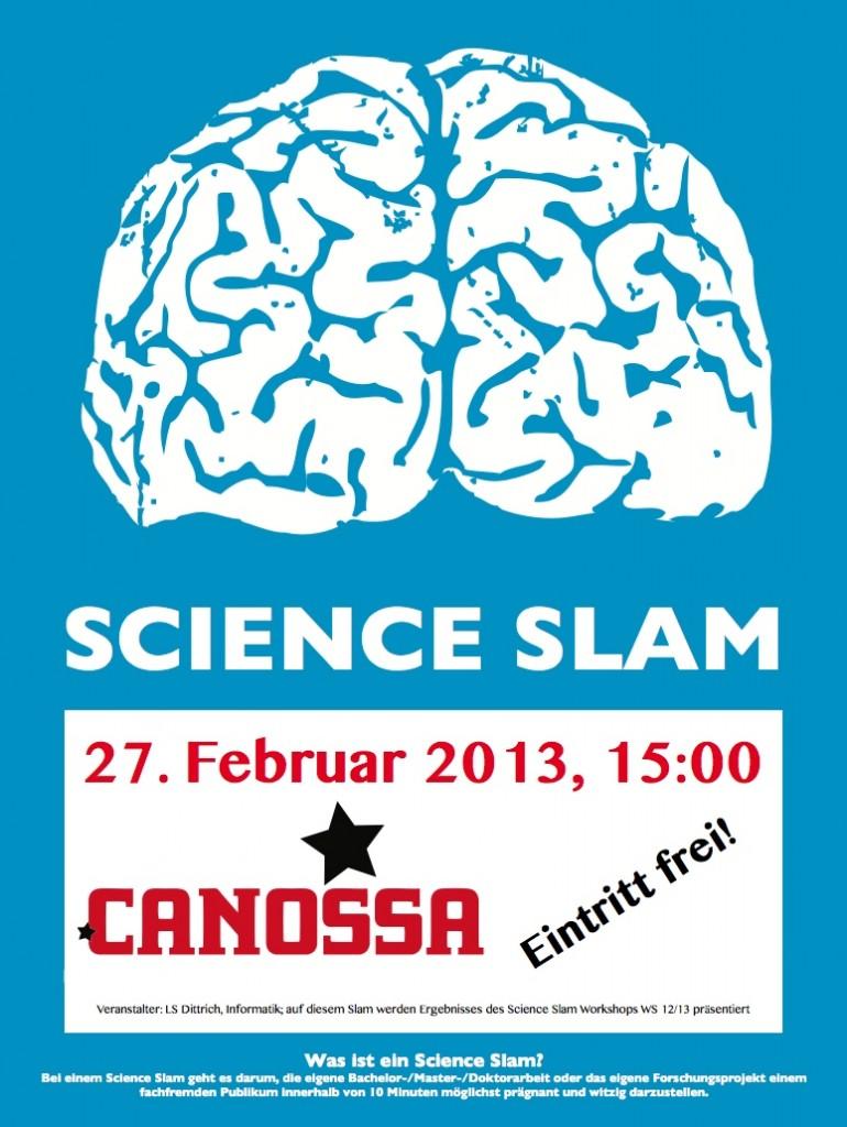 Science Slam Plakat Canossa